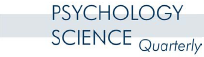 PSYCHOLOGY SCIENCE Quarterly